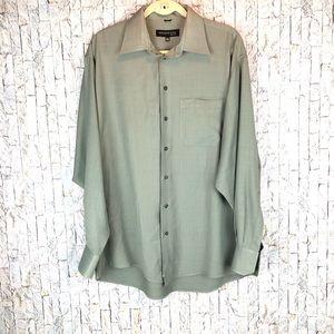 Men's Long Sleeve Kenneth Cole Dress Shirt Green